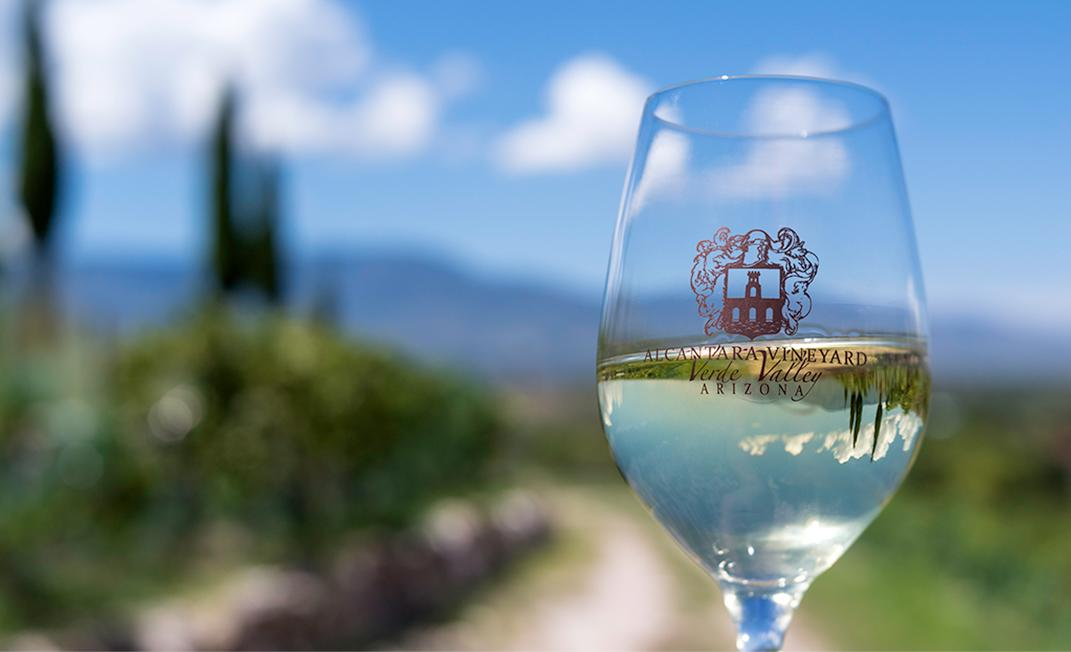 Verde Valley Wine Glass