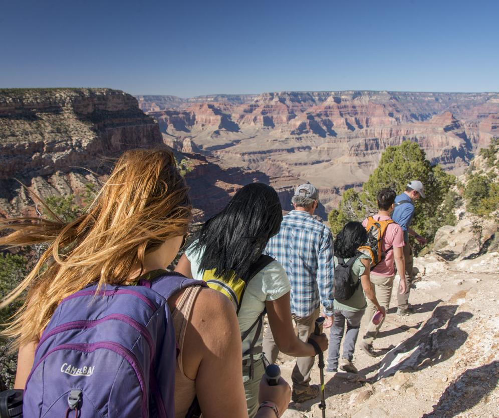 Hiking Below The Rim Of The Grand Canyon With Pink Jeep Tours