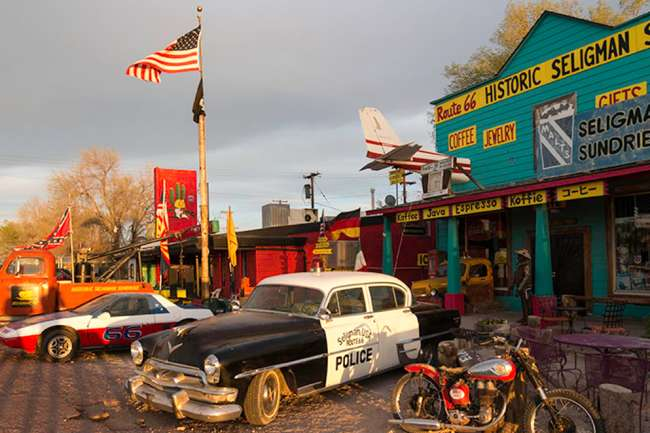 Map Of Old Route 66 Arizona.Kicking It On Arizona S Route 66 Official Travel Site For