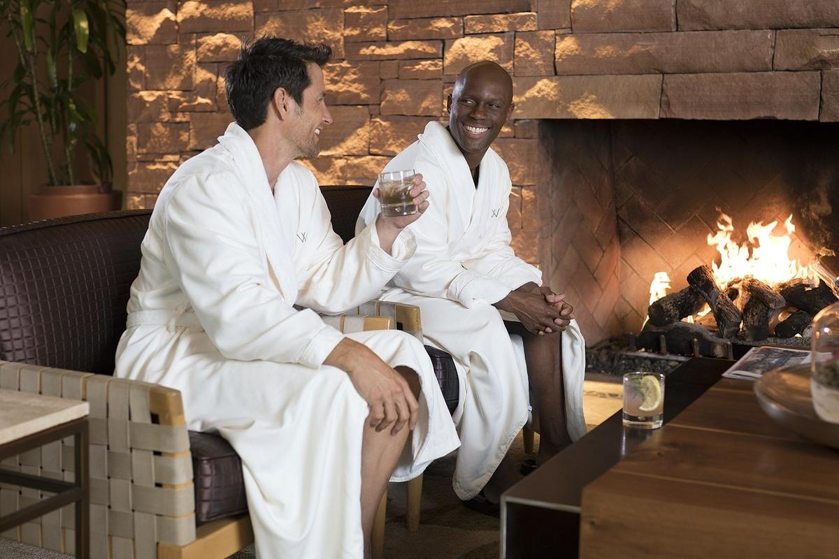 Men's lounge at Well & Being Spa at the Fairmont Scottsdale Princess