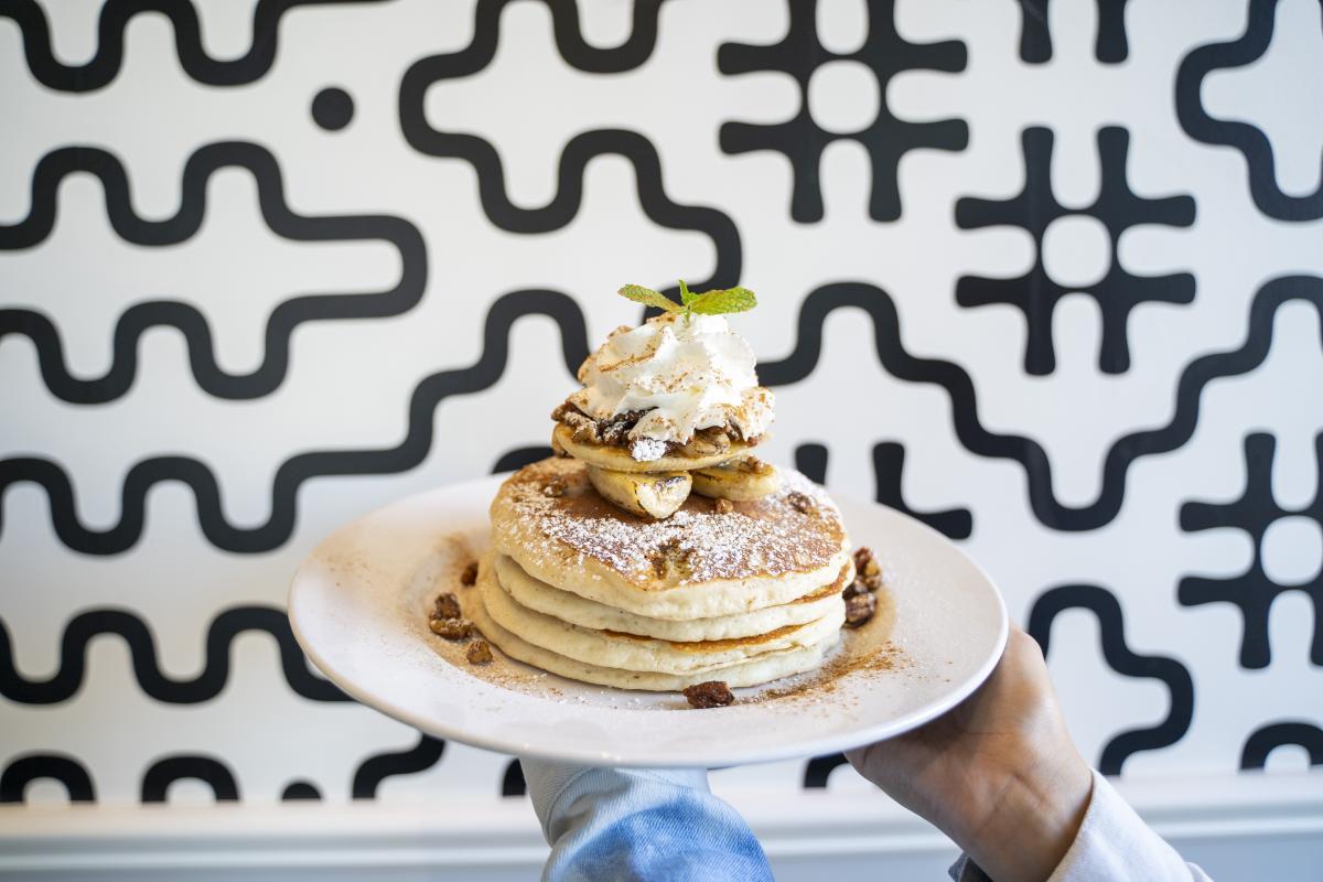 Hash Kitchen Bananas Foster Pancakes