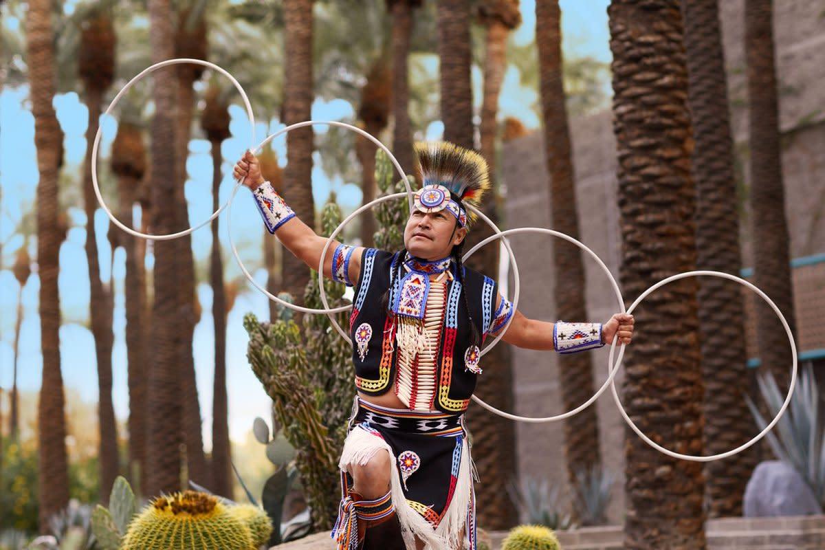 Native American hoop dancing at the Hyatt Regency Scottsdale Resort & Spa at Gainey Ranch