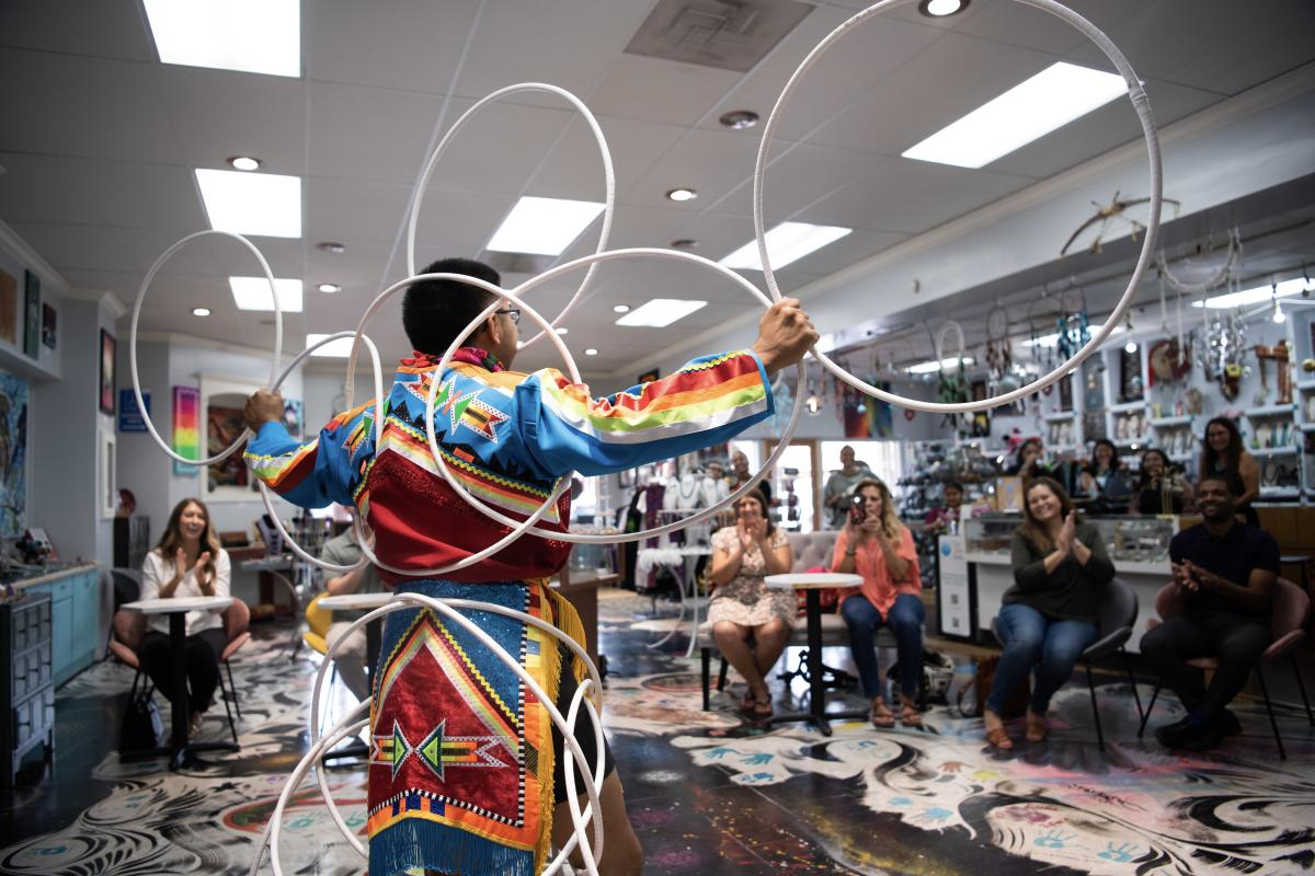 Native Dancer in Old Town