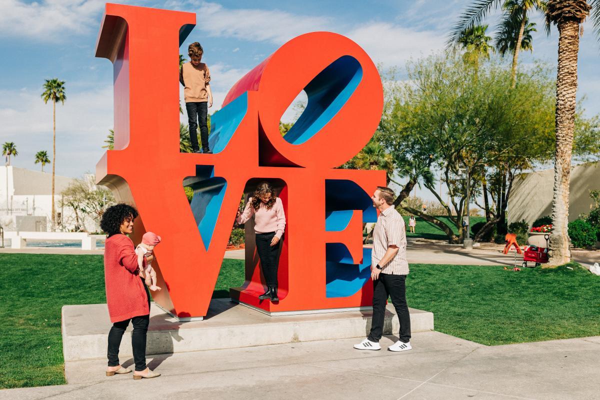 LOVE Sculpture Family