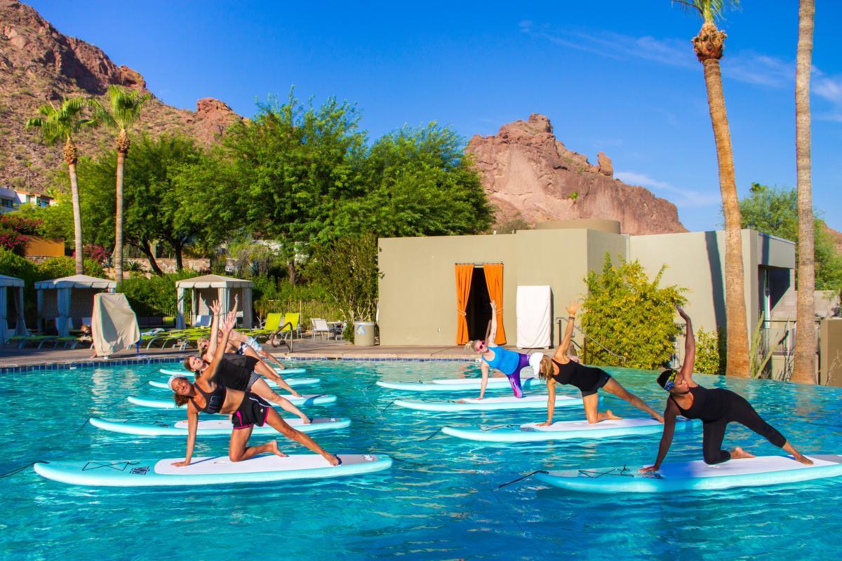 Sanctuary on Camelback Mountain Paddle Board Yoga