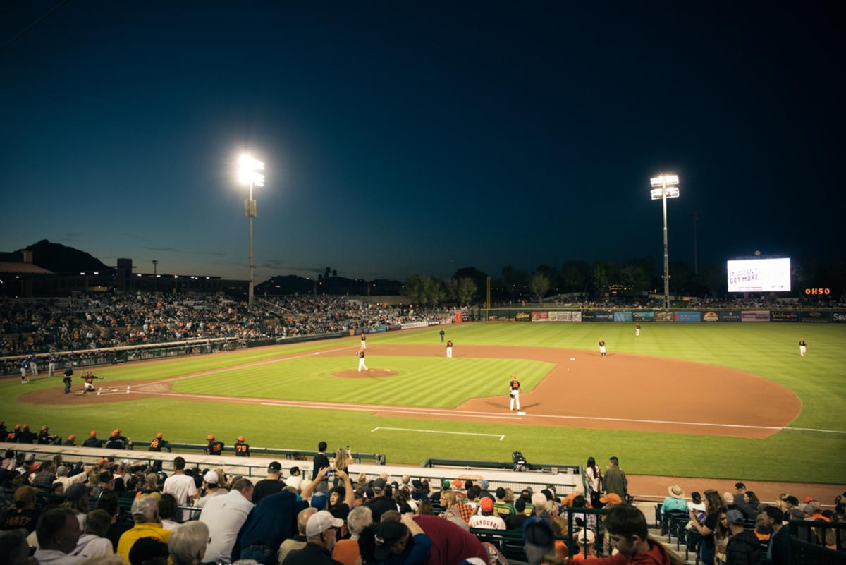 San Francisco Giants Spring Training at Scottsdale Stadium in Old Town